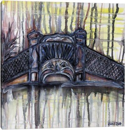 Luna Park Melbourne With Yellow Canvas Art Print