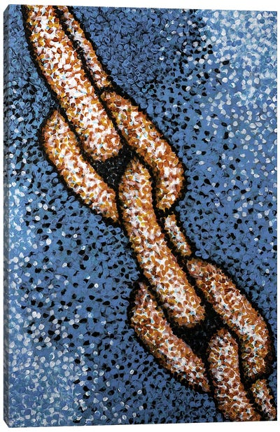 Rusty Chain Canvas Art Print