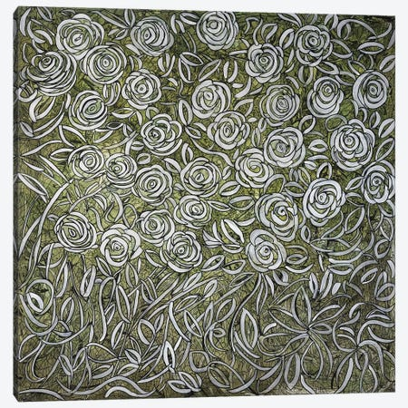 White Roses Canvas Print #CZS81} by Carol Zsolt Canvas Art Print