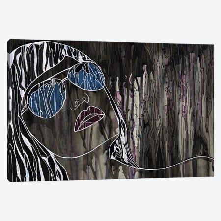 Woman With Sunglasses Canvas Print #CZS82} by Carol Zsolt Art Print