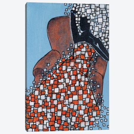Big Hair Blue Canvas Print #CZS84} by Carol Zsolt Canvas Artwork