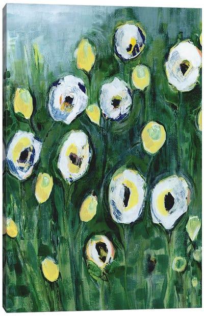 Modern White Floral I Canvas Art Print