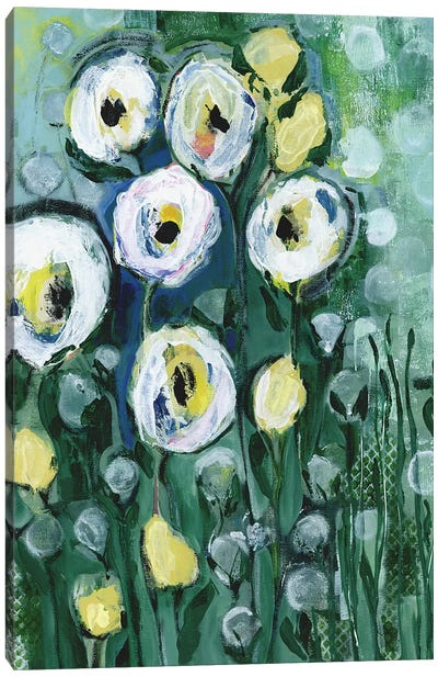 Modern White Floral II Canvas Art Print