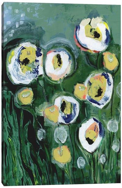 Modern White Floral III Canvas Art Print