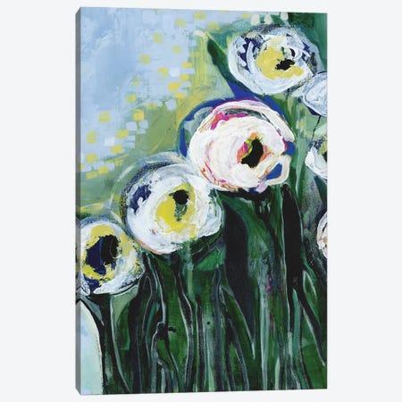 Modern White Floral IV Canvas Print #DAA16} by Tara Daavettila Canvas Print
