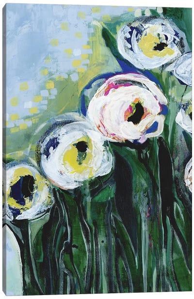 Modern White Floral IV Canvas Art Print