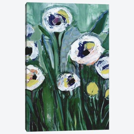 Modern White Floral V Canvas Print #DAA17} by Tara Daavettila Art Print