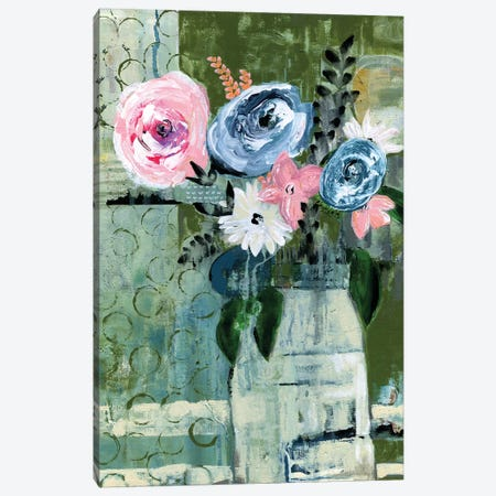 Modern Floral Circle Canvas Print #DAA18} by Tara Daavettila Canvas Art