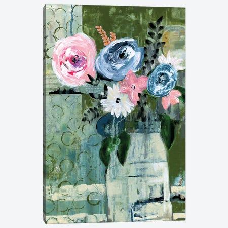Modern Floral Circle Canvas Print #DAA18} by Tara Daavettila Canvas Art