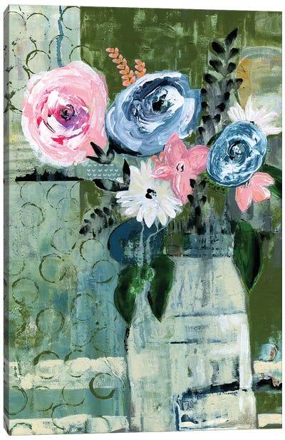 Modern Floral Circle Canvas Art Print