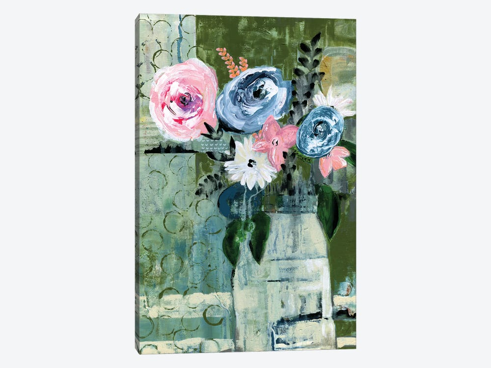 Modern Floral Circle by Tara Daavettila 1-piece Art Print