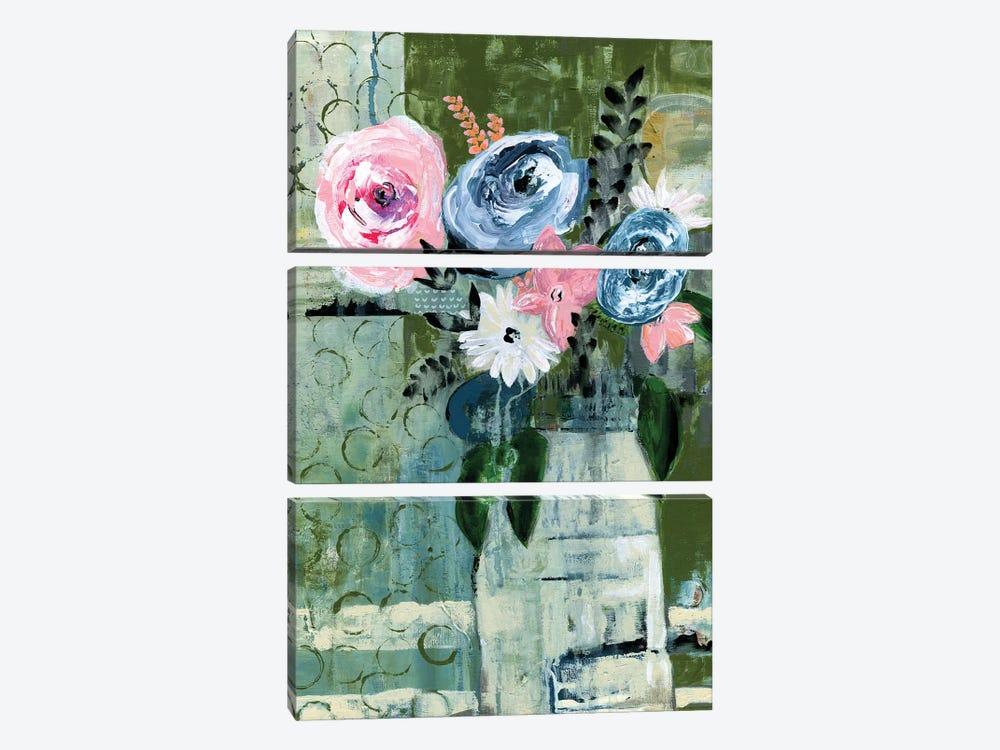 Modern Floral Circle by Tara Daavettila 3-piece Canvas Print