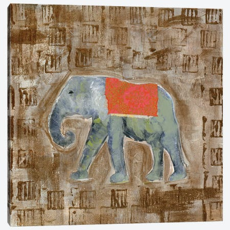 Global Elephant I Canvas Print #DAA1} by Tara Daavettila Canvas Wall Art