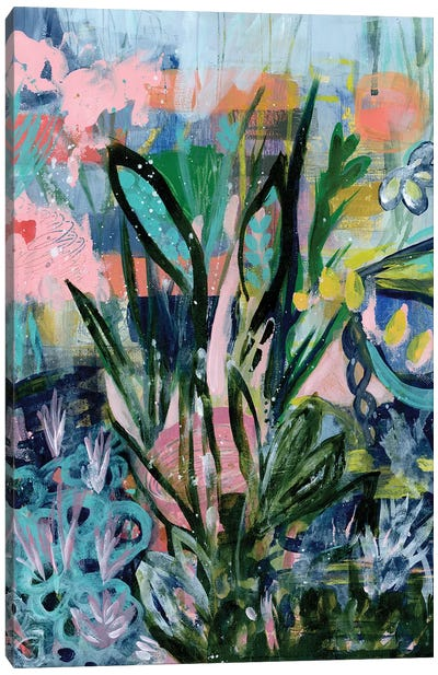Opulent Floral Strokes IV Canvas Art Print
