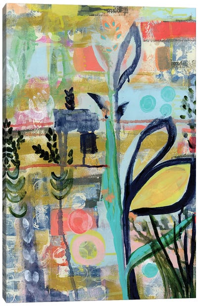 Opulent Floral Strokes V Canvas Art Print