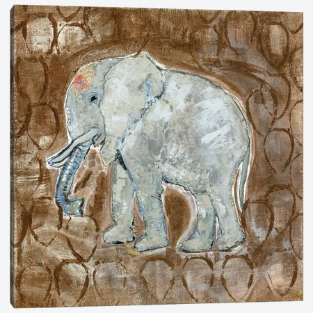 Global Elephant II Canvas Print #DAA2} by Tara Daavettila Canvas Wall Art