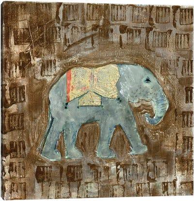 Global Elephant III Canvas Art Print
