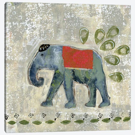 Global Elephant IV Canvas Print #DAA4} by Tara Daavettila Art Print