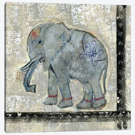Global Elephant V Canvas Print #DAA5} by Tara Daavettila Art Print