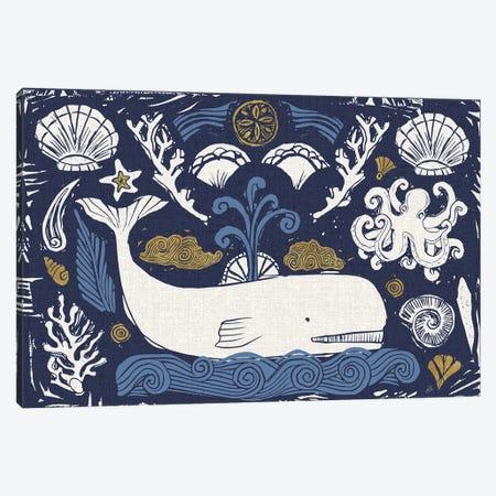 Primitive Sea I Dark Canvas Print #DAB115} by Daphne Brissonnet Canvas Print
