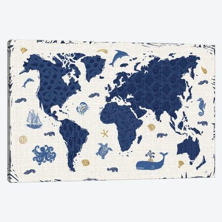 Primitive Sea II Canvas Print #DAB116} by Daphne Brissonnet Art Print