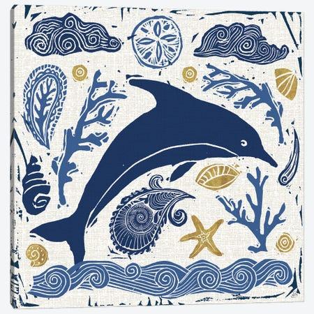 Primitive Sea VIII Canvas Print #DAB128} by Daphne Brissonnet Art Print