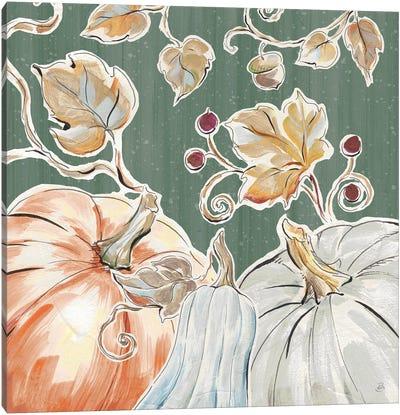 Pumpkin Patch III Dark Canvas Art Print