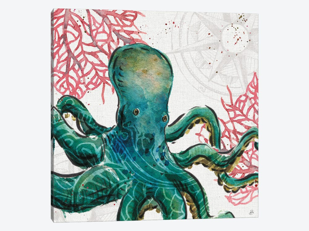 Ocean Finds IX by Daphne Brissonnet 1-piece Canvas Art Print