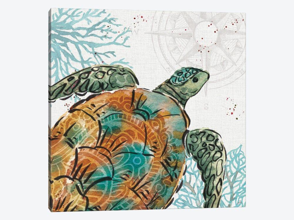 Ocean Finds X by Daphne Brissonnet 1-piece Canvas Art Print