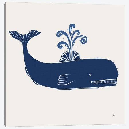 Primitive Sea I Navy Canvas Print #DAB156} by Daphne Brissonnet Canvas Print