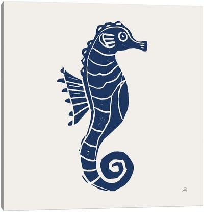 Primitive Sea VI Navy Canvas Art Print