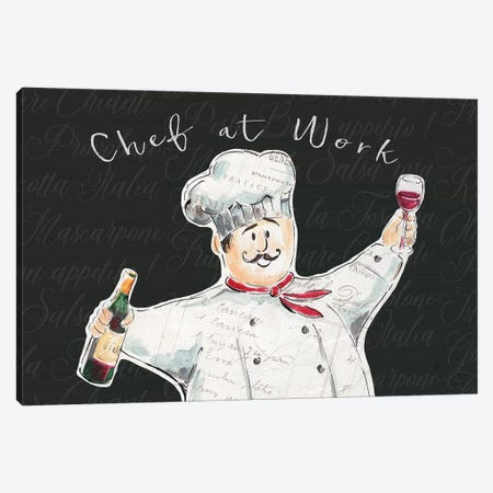 Chef at Work I Canvas Print #DAB43} by Daphne Brissonnet Canvas Art