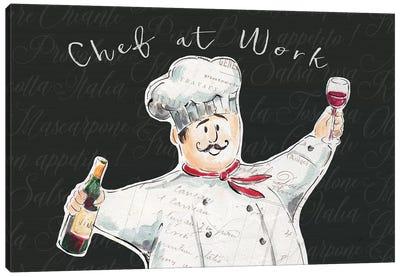 Chef at Work I Canvas Art Print