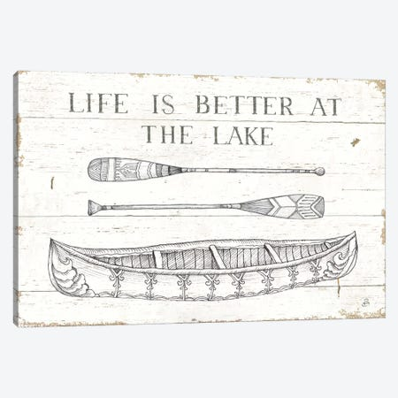 Lake Sketches II Canvas Print #DAB45} by Daphne Brissonnet Art Print