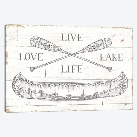 Lake Sketches III Canvas Print #DAB46} by Daphne Brissonnet Canvas Print