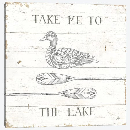 Lake Sketches VII Canvas Print #DAB51} by Daphne Brissonnet Art Print