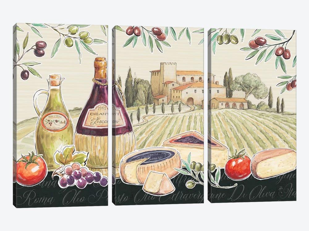 Tuscan Flavor I by Daphne Brissonnet 3-piece Art Print