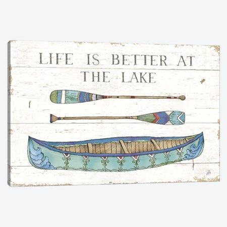 Lake Sketches II Color Canvas Print #DAB78} by Daphne Brissonnet Art Print