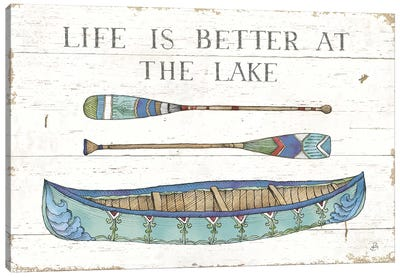 Lake Sketches II Color Canvas Art Print