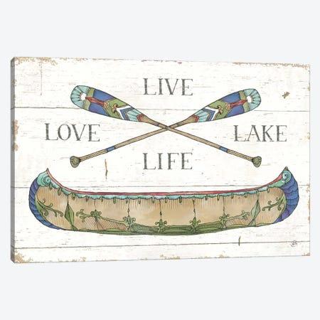 Lake Sketches III Color Canvas Print #DAB79} by Daphne Brissonnet Canvas Art Print