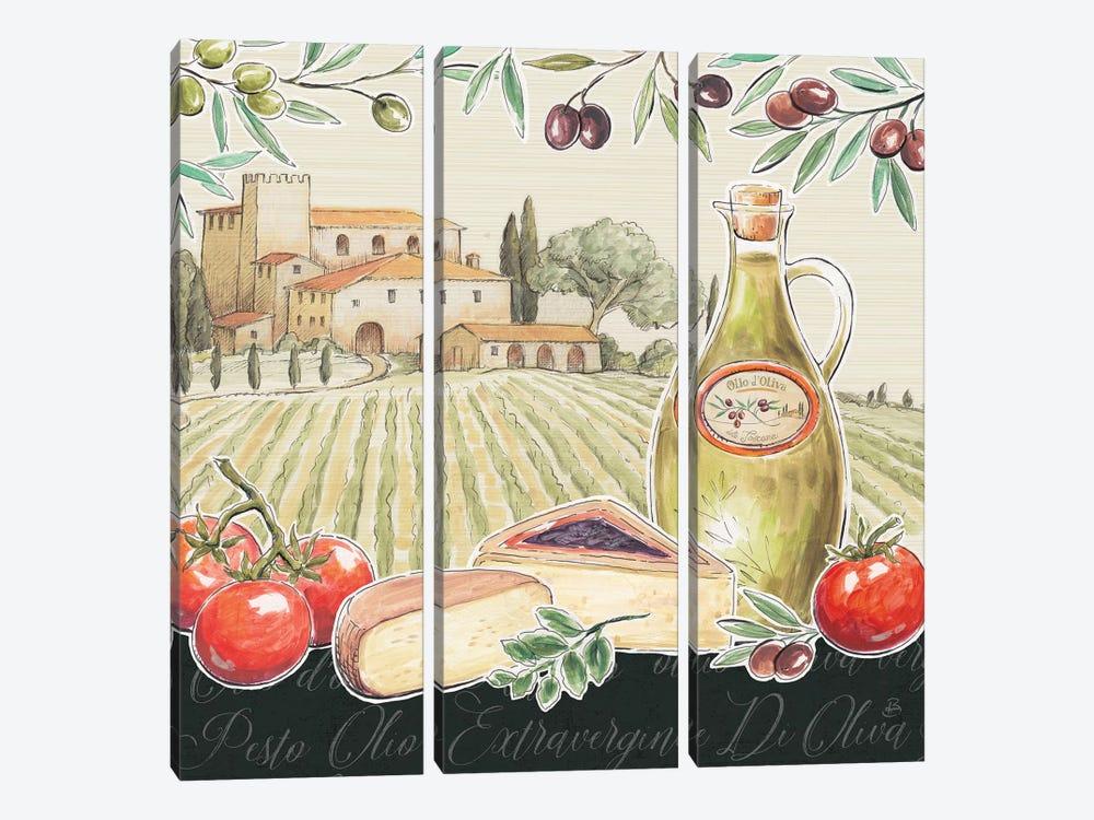 Tuscan Flavor III by Daphne Brissonnet 3-piece Canvas Print