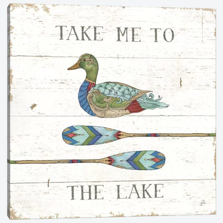 Lake Sketches VII Color Canvas Print #DAB84} by Daphne Brissonnet Canvas Print