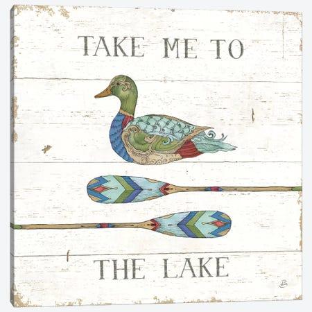 Lake Sketches VII Color Canvas Print #DAB84} by Daphne Brissonnet Canvas Print