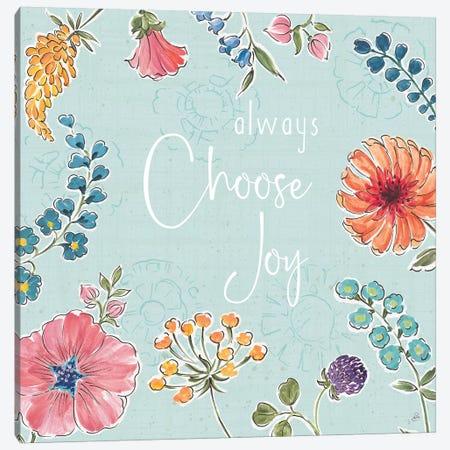 Gypsy Meadow V Blue Canvas Print #DAB93} by Daphne Brissonnet Canvas Print