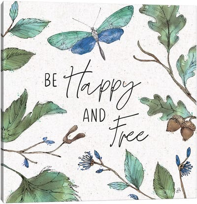 Outdoor Beauties Color I Be Happy and Free by Daphne Brissonnet Canvas Art Print
