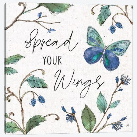 Outdoor Beauties Color II Spread Your Wings 3-Piece Canvas #DAB95} by Daphne Brissonnet Canvas Art