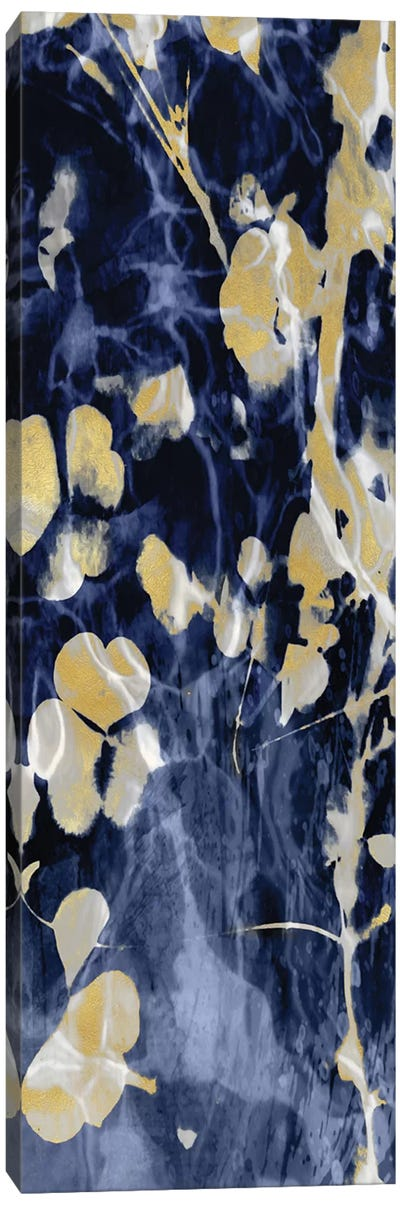 Indigo Nature with Gold II Canvas Art Print