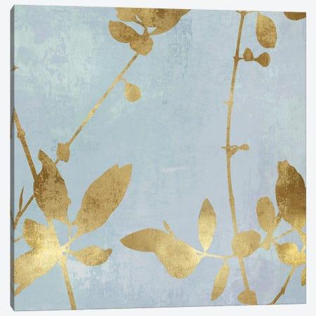 Nature Gold on Blue III 3-Piece Canvas #DAC108} by Danielle Carson Canvas Artwork