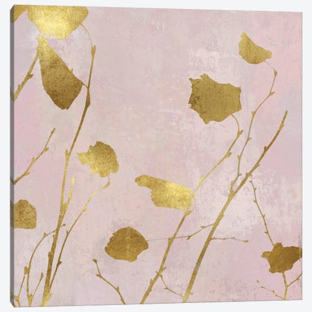 Nature Gold on Pink Blush I 3-Piece Canvas #DAC109} by Danielle Carson Canvas Wall Art