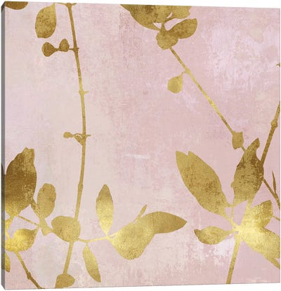 Nature Gold on Pink Blush III Canvas Art Print